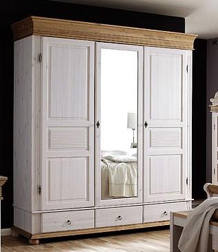Kleiderschrank xl 3 t rig wei schlafzimmerschrank mit - Schlafzimmerschrank mit spiegel ...