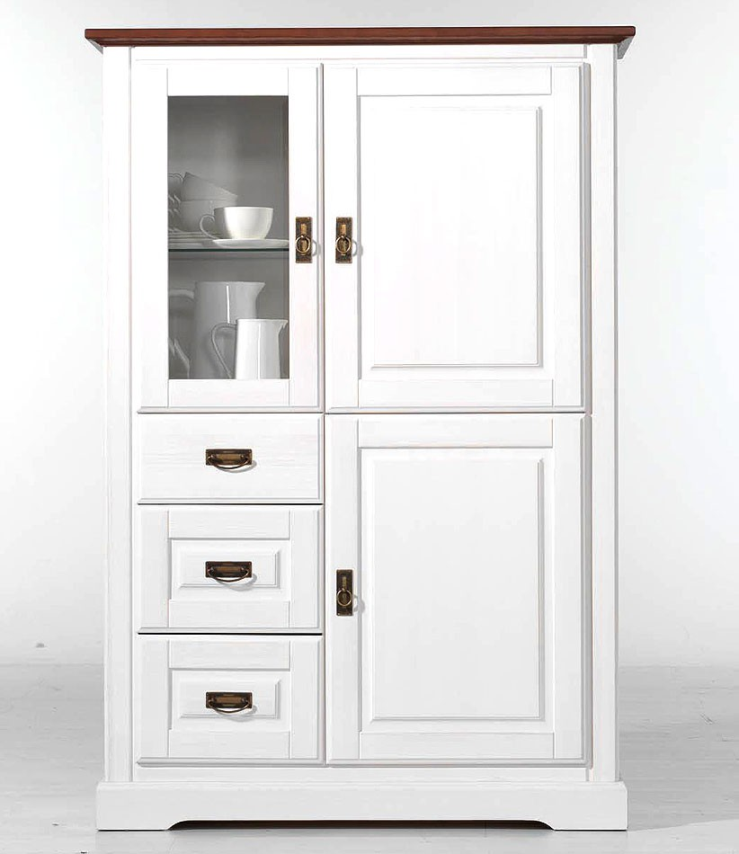 landhausstil weiss highboard preisvergleiche. Black Bedroom Furniture Sets. Home Design Ideas
