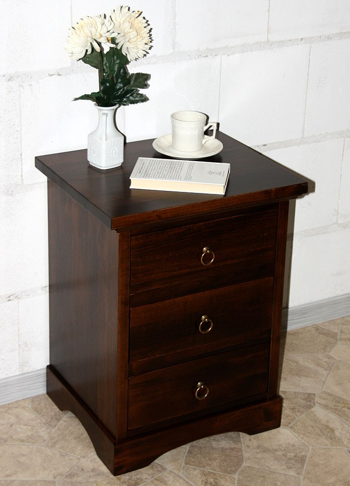 massivholz nachttisch nachtkonsole nachtkommode holz massiv kolonial. Black Bedroom Furniture Sets. Home Design Ideas