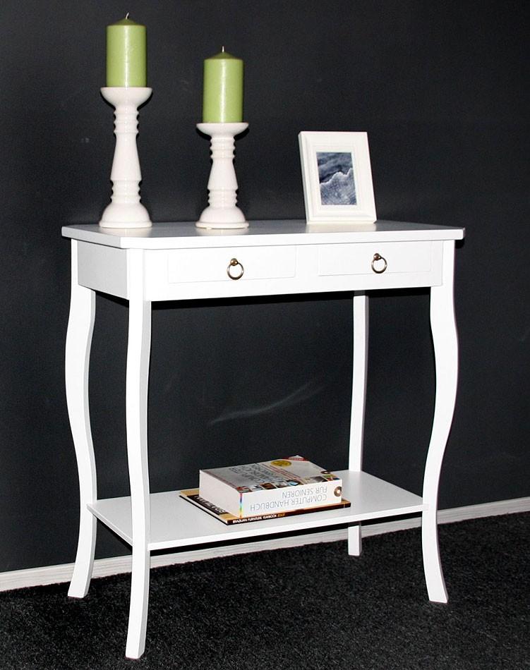 massivholz wandtisch telefontisch konsolentisch holz massiv wei lackiert. Black Bedroom Furniture Sets. Home Design Ideas