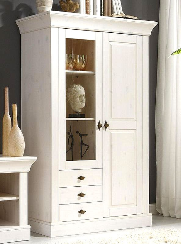 vitrine kiefer massiv weiss preisvergleiche. Black Bedroom Furniture Sets. Home Design Ideas