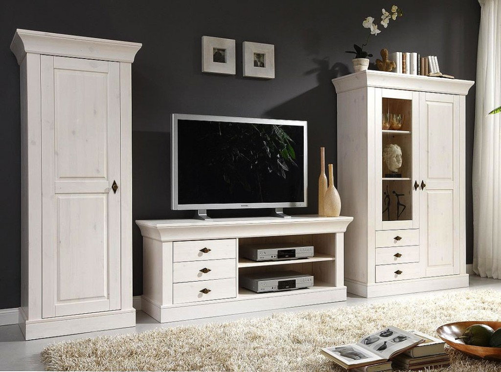 wohnwand holz massiv wohnwand wohnzimmer schrank schrankwand anbauwand wohnwand eiche bianco. Black Bedroom Furniture Sets. Home Design Ideas
