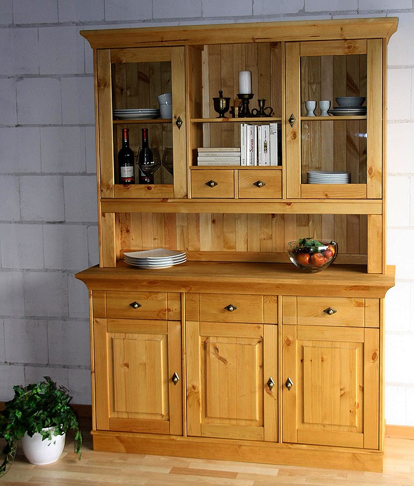 CASA Collection Massivholz Buffetschrank Küchenschrank Buffet Kiefer massiv Holz gelaugt