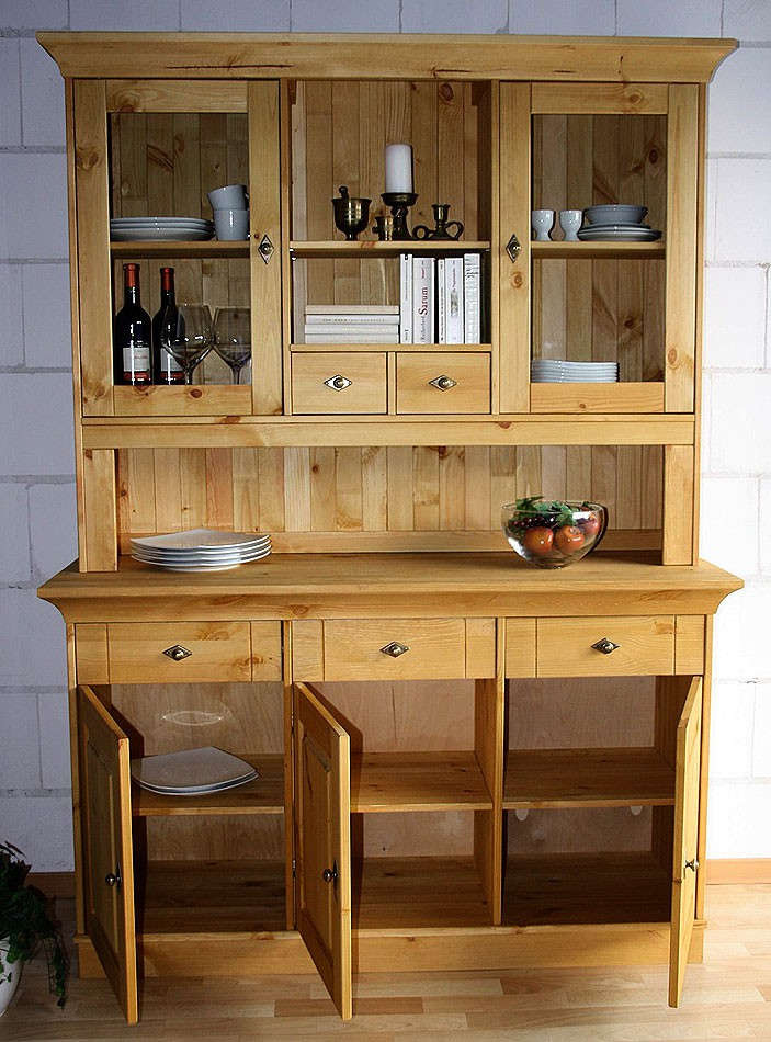massivholz buffetschrank k chenschrank buffet kiefer massiv holz gelaugt. Black Bedroom Furniture Sets. Home Design Ideas