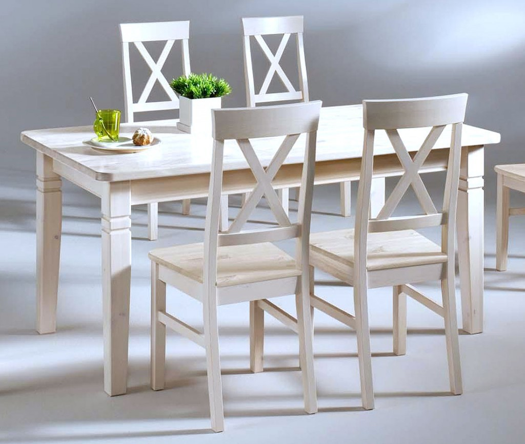 massivholz esstisch 160cmtisch k chentisch kiefer massiv wei lasiert. Black Bedroom Furniture Sets. Home Design Ideas