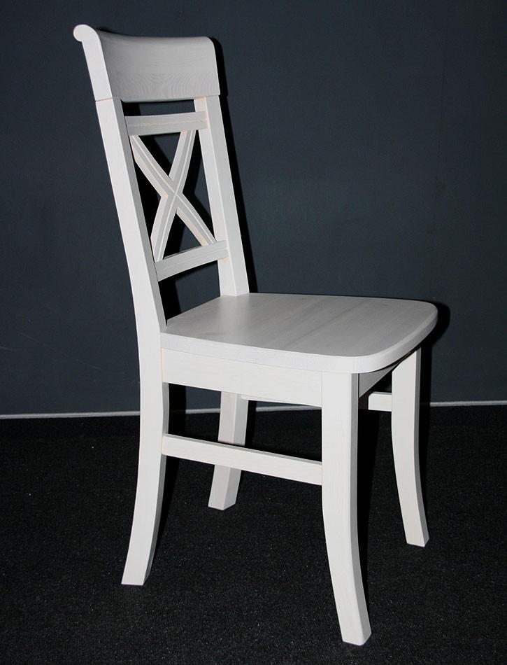 stuhl fjord holzstuhl k chenstuhl kiefer massiv wei lasiert. Black Bedroom Furniture Sets. Home Design Ideas