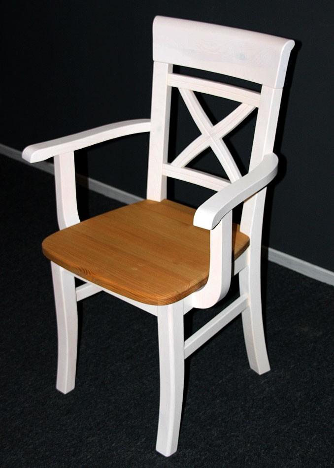 massivholz armlehnstuhl stuhl armlehnsessel kiefer massiv wei gelaugt. Black Bedroom Furniture Sets. Home Design Ideas