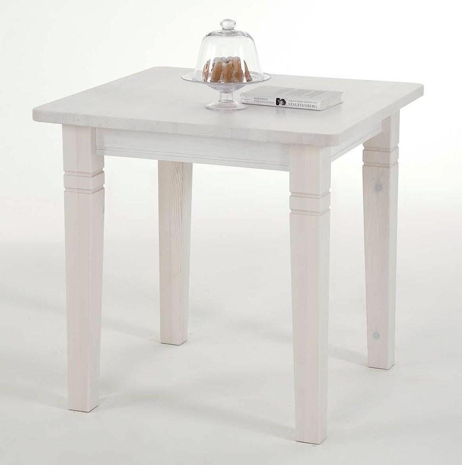 k chentisch 78x78cm tisch wandtisch kiefer massiv wei lasiert. Black Bedroom Furniture Sets. Home Design Ideas