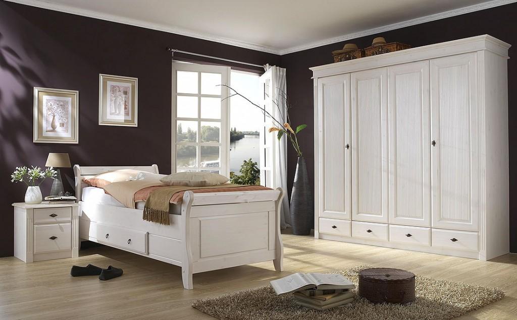massivholz doppelbett mit schubladen 180x200 holzbett. Black Bedroom Furniture Sets. Home Design Ideas