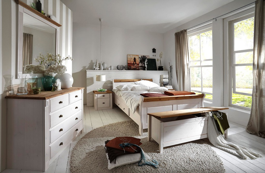 massivholz bett mit schubladen 140x200 holzbett kiefer. Black Bedroom Furniture Sets. Home Design Ideas