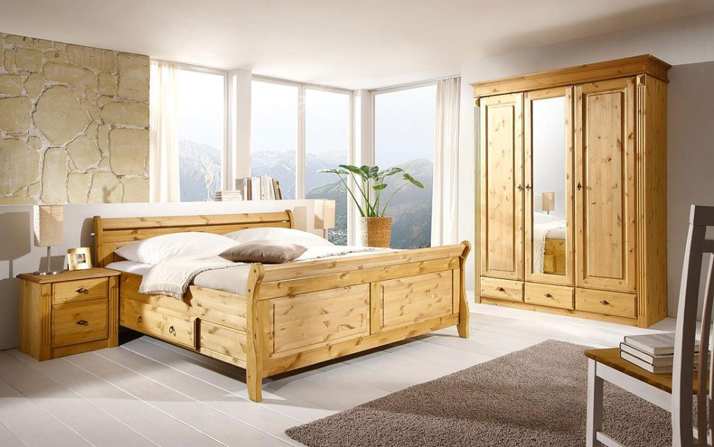 massivholz nachttisch nachtschrank nachtkommode kiefer massiv gelaugt. Black Bedroom Furniture Sets. Home Design Ideas