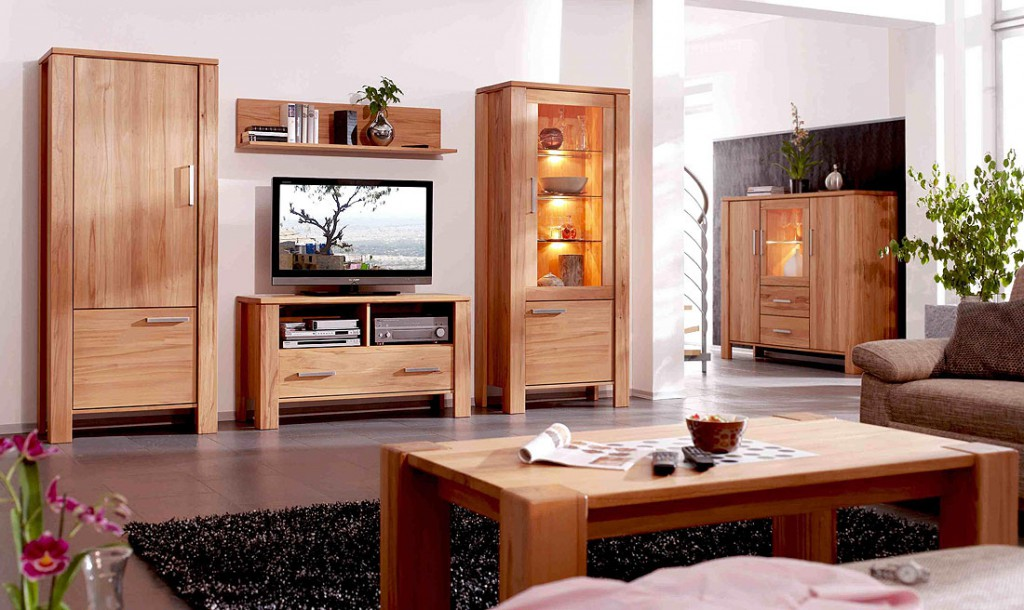 wohnwand holz massiv 4 pictures to pin on pinterest. Black Bedroom Furniture Sets. Home Design Ideas