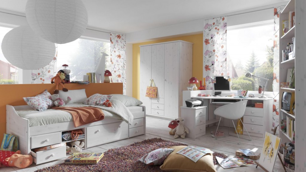massivholz kojenbett 90x200 kiefer massiv wei funktionsbett kinderbett holzbett. Black Bedroom Furniture Sets. Home Design Ideas