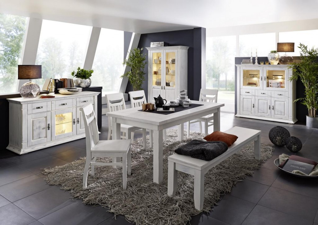 Esszimmer weis landhausstil gebraucht - Esszimmer komplett modern ...