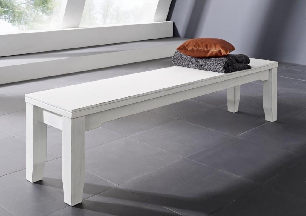 schlafzimmer sitzbank: sitzbank 180 weiß holzbank kiefer massiv ... - Schlafzimmer Bank Weis