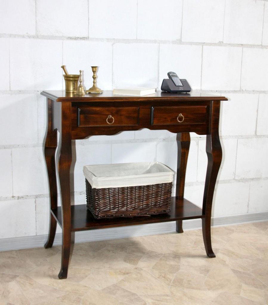 massivholz konsolentisch wandtisch beistelltisch 79x80x39. Black Bedroom Furniture Sets. Home Design Ideas