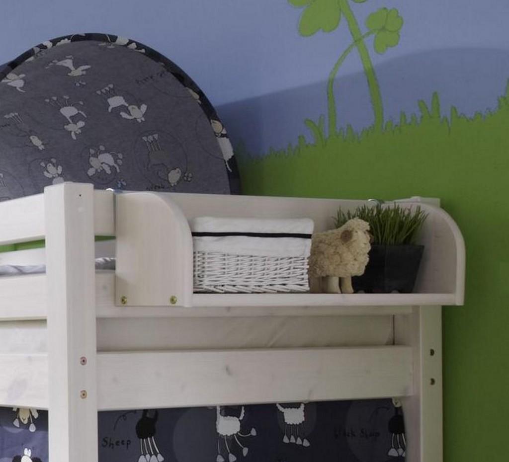 massivholz h ngeregal kinderregal kiefer massiv wei lasiert. Black Bedroom Furniture Sets. Home Design Ideas