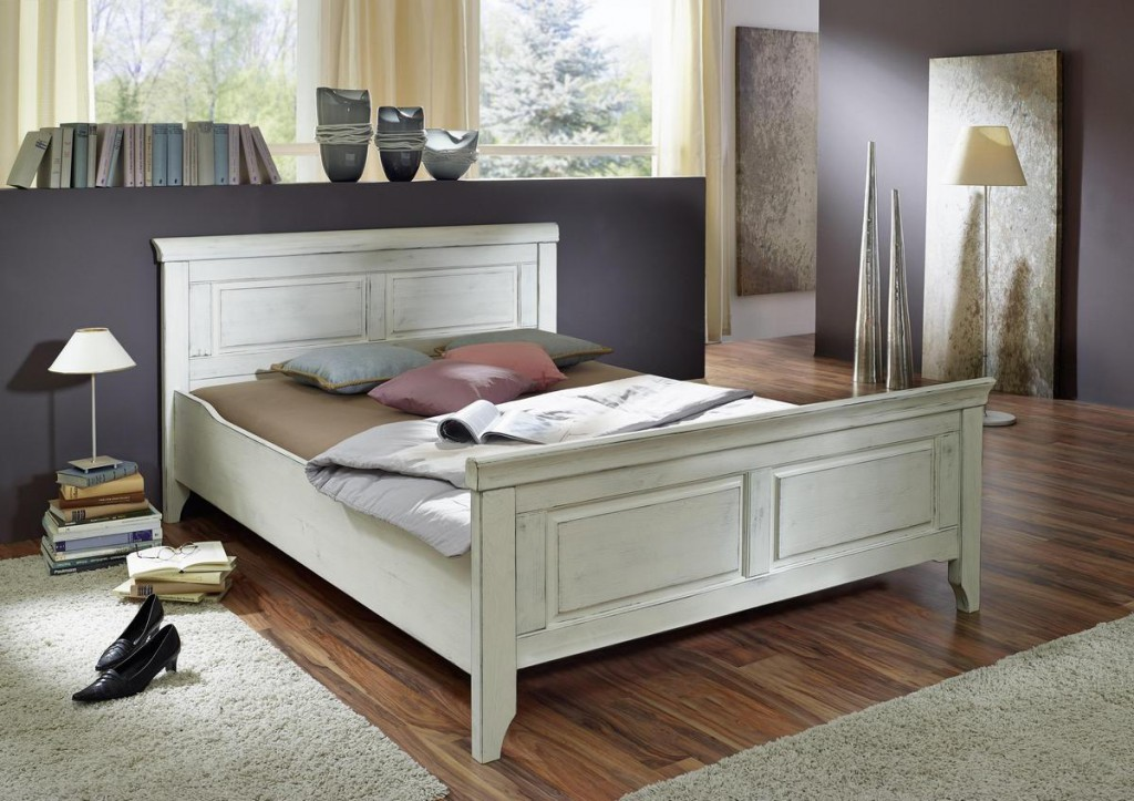 bett mistral kiefer massiv wei natur 120 x 200 cm pictures to pin on pinterest. Black Bedroom Furniture Sets. Home Design Ideas