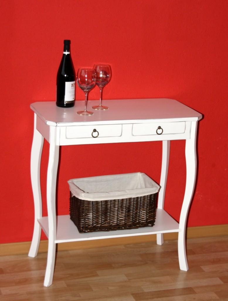 Konsolentisch wei antik wandtisch telefontisch for Wandtisch holz