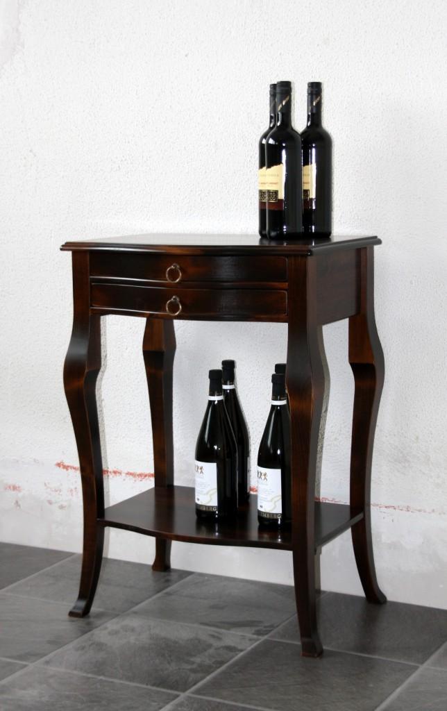 beistelltisch wandtisch konsolentisch nu baum telefontisch massiv holz kolonial ebay. Black Bedroom Furniture Sets. Home Design Ideas