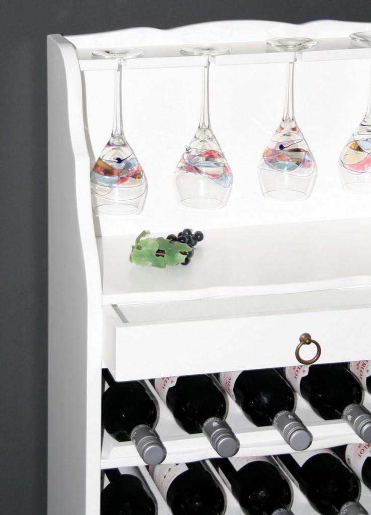 weinregal wei lackiert flaschenregal weinaufbewahrung regal f r 25 flaschen pappel massiv. Black Bedroom Furniture Sets. Home Design Ideas