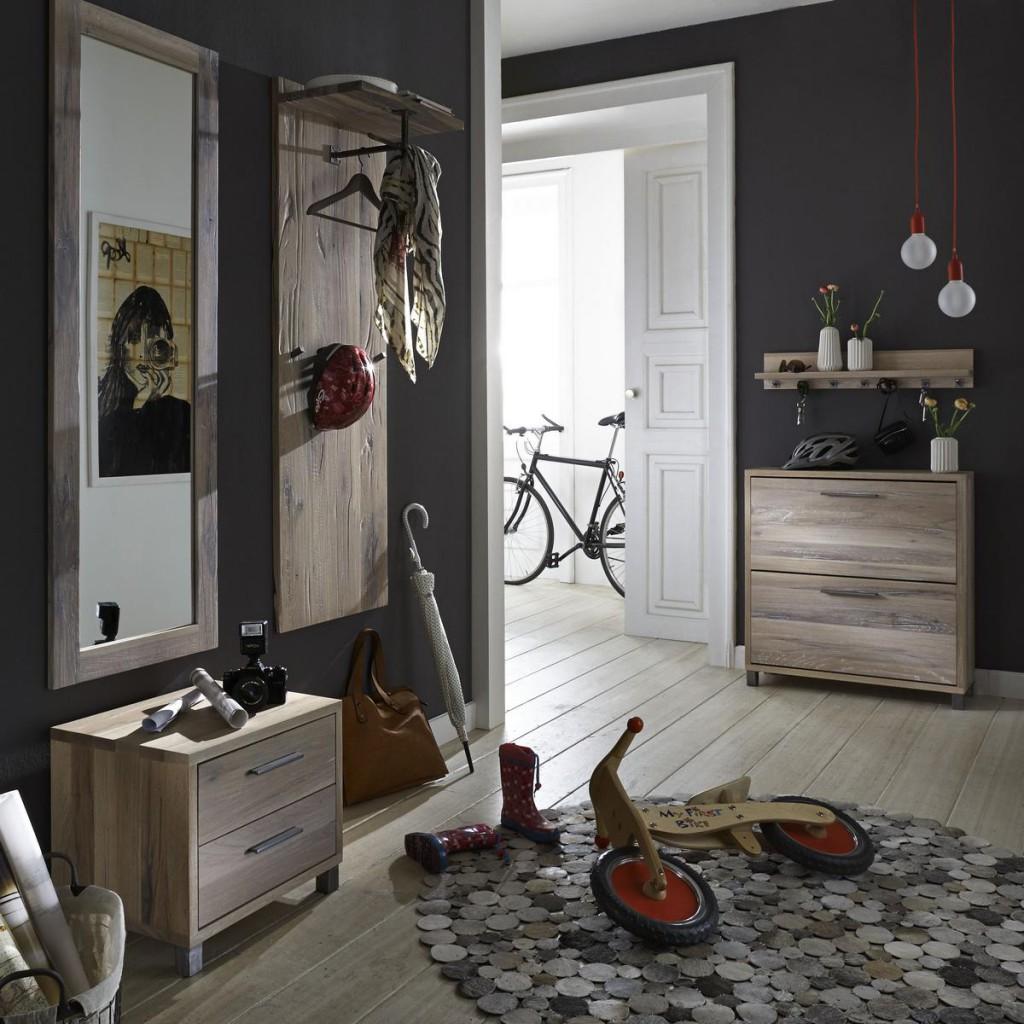 dielen set 5 teilig balkeneiche white wash dielenm bel eiche massiv. Black Bedroom Furniture Sets. Home Design Ideas