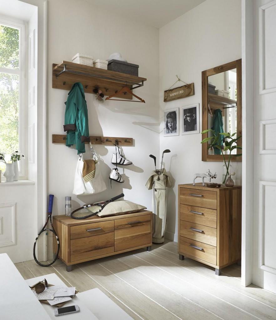 dielenkombination 5 teilig balkeneiche ge lt dielenm bel eiche massiv. Black Bedroom Furniture Sets. Home Design Ideas