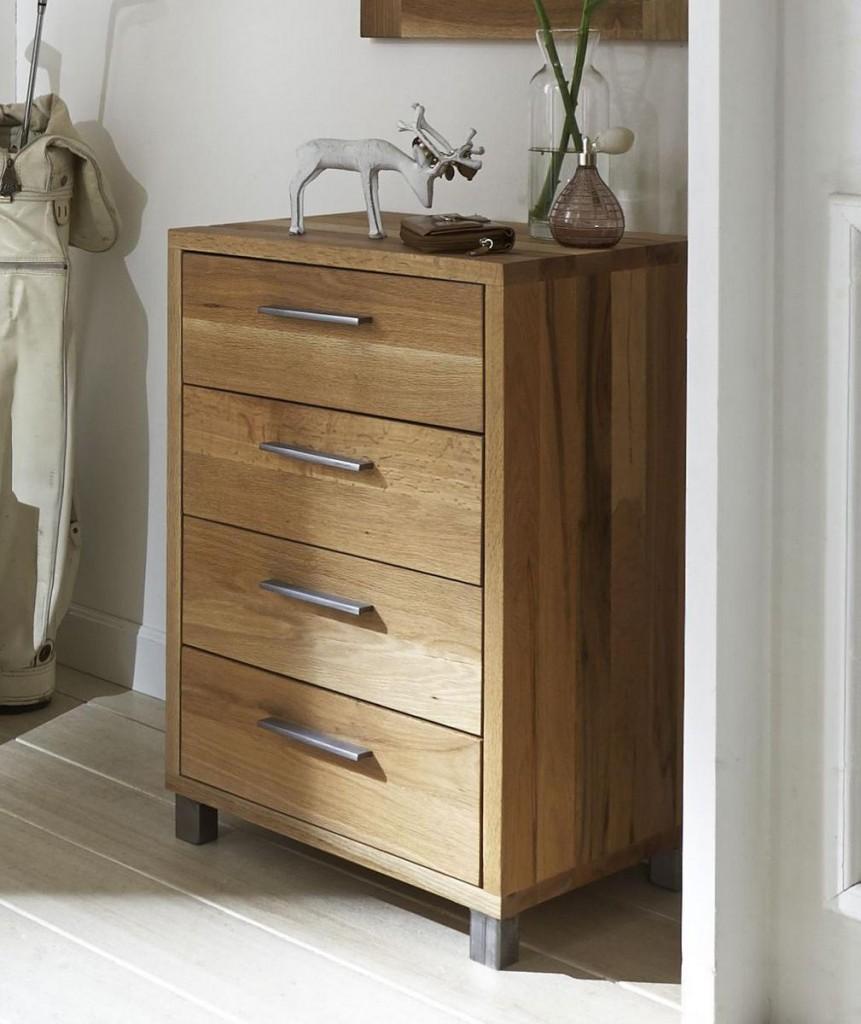 schubladenkommode balkeneiche ge lt dielenkommode eiche massiv 4 schubladen. Black Bedroom Furniture Sets. Home Design Ideas