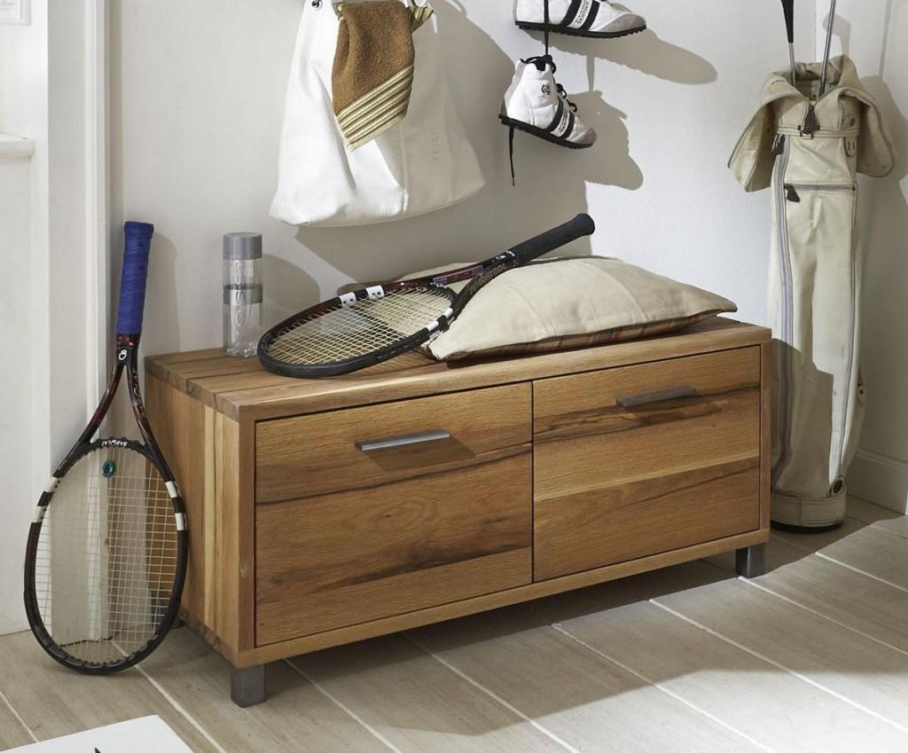 dielenbank balkeneiche ge lt dielenkommode eiche massiv 2. Black Bedroom Furniture Sets. Home Design Ideas