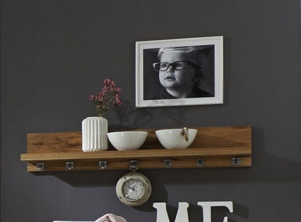 schl sselboard balkeneiche ge lt wandregal eiche massiv. Black Bedroom Furniture Sets. Home Design Ideas