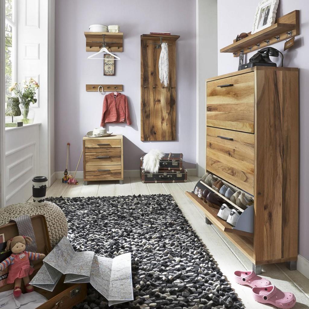 garderobenpaneel balkeneiche ge lt garderobe hutablage. Black Bedroom Furniture Sets. Home Design Ideas