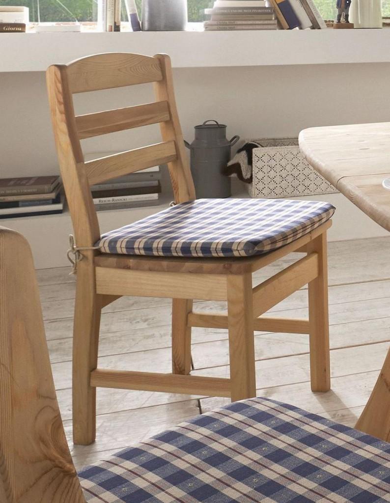 stuhl kiefer massiv mit holzsitz. Black Bedroom Furniture Sets. Home Design Ideas