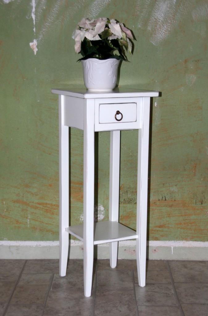 Beistelltische Wei Antik Blumentisch Set Blumenhocker
